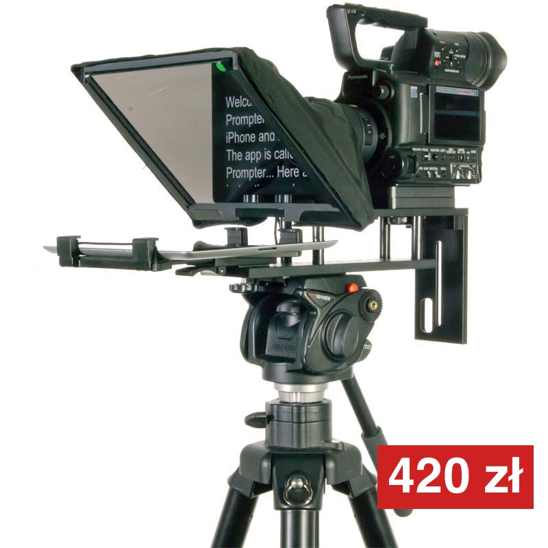 Prompter z tabletem do małych kamer